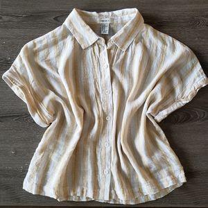 LIKE NEW - Forever 21 Linen Button Down Shirt | M